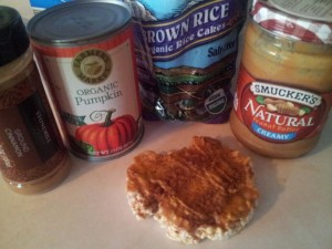 Pumpkin Peanut Butter Rice Cakes
