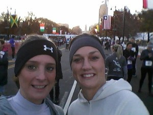 Emily and I getting ready to start the Rothman 8k
